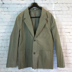 NWT Eddie Bauer olive brushed cotton sports coat